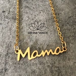 Mama Gold Plated Stainless Steel Necklace 💕